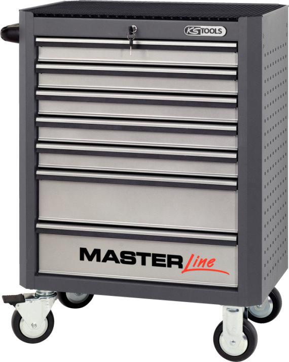 ks tools masterline werkstattwagen mit 7 schubladen grau. Black Bedroom Furniture Sets. Home Design Ideas